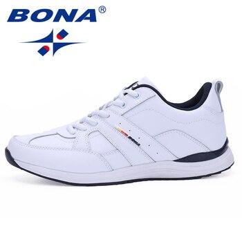 f1c1a006 BONA Новое поступление типичный стиль мужские кроссовки уличные прогулочные  беговые кроссовки удобные спортивные туфли Быстрая бесплатная .