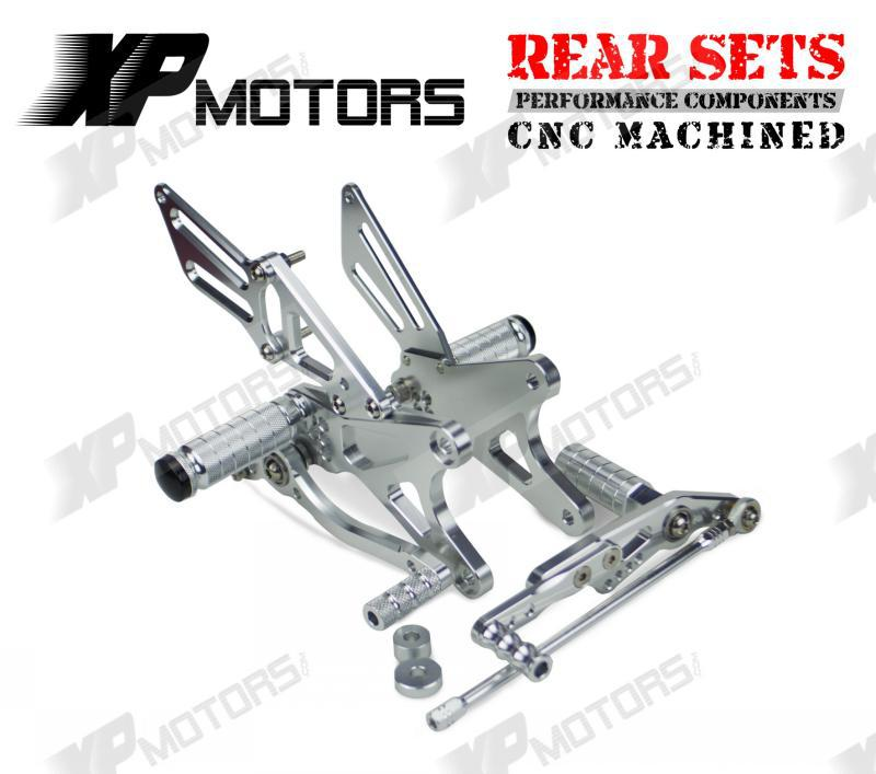New Arrived CNC Silver Adjustable Foot pegs Rearset Footrests Rear Sets For Yamaha YZF R1 2009 2010 2011 2012 2013 2014