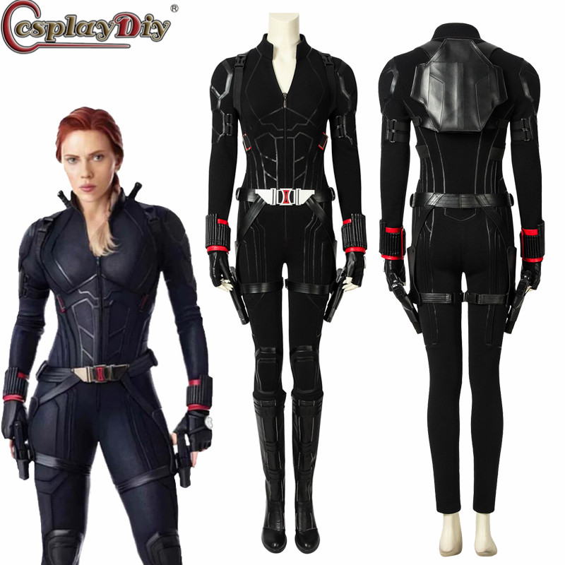 Us 17 85 15 Off Cosplaydiy Avengers Endgame Black Widow Cosplay Costume Halloween Women Costumes Avengers 4 Natasha Romanoff Halloween Jumpsuit In