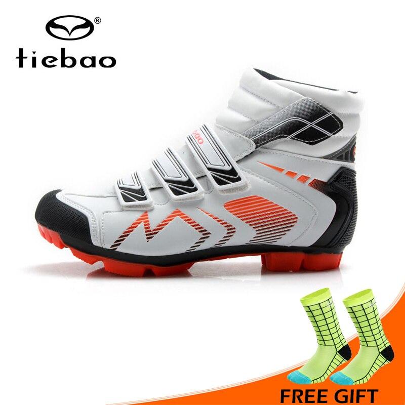 b9c32a19ff654 Tiebao Kış Yeni Erkekler Bisiklet Ayakkabı MTB Dağ Bisikleti Ayakkabı  Öz-kilitleme Nefes Bisiklet Ayakkabı Çizmeler Sapatos de ciclismo