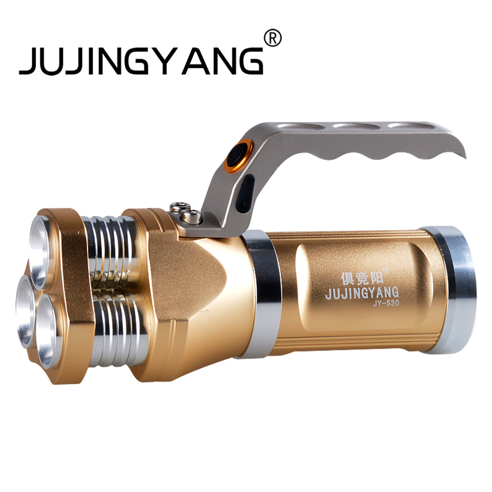 JUJINGYANG 5 mode handheld flashlight T6 30W strong light torch multifunctional long shot flashlight