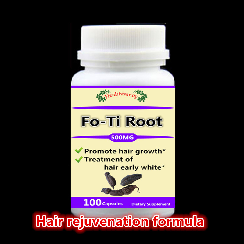 Prevent and cure Hair loss,Fo-Ti Root supplement For Gray hair,Promote hair growth,Hair early white,He Shou Wu - 100pcs/bottle fender squier jim root telecaster flat white