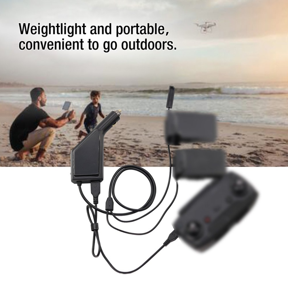 Car Charger for DJI Mavic Air Intelligent Battery Charging Fast Portable Travel Transport Outdoor Charger Hub UAV Accessory