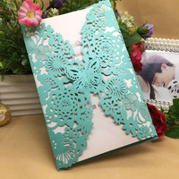 30Pc Romantic Wedding Business Party Birthday Invitation Cards Wedding Party Invitation Card Envelope Butterfly Pattern 8JJ106