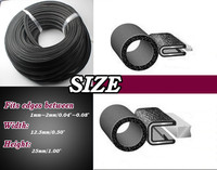 2200cm Rubber Edge Trim Seal Sound Proofing Silencer Sound Proofing Anti Noise Rear Quarter Panel Seal