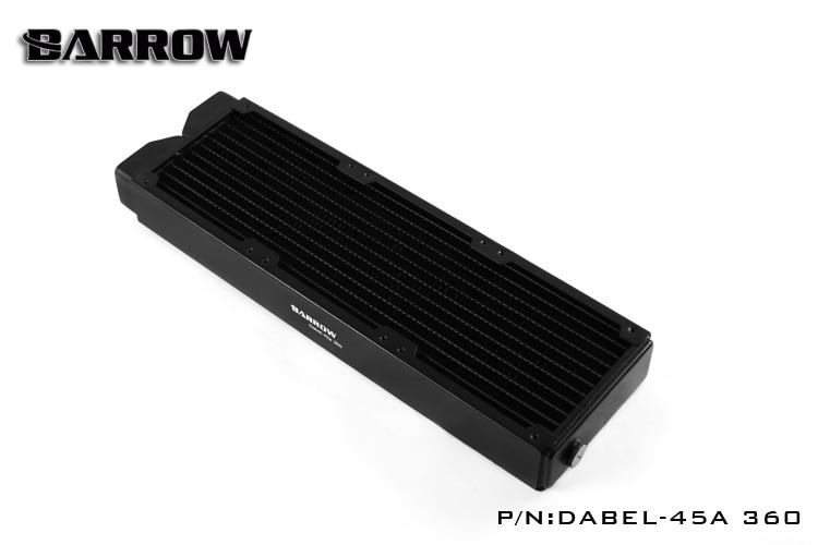 Barrow Dabel-45A-360 rame 360mm computer liquido scambiatore di calore di scarico Dell'acqua filo filettato radiatore per 12 cm fan