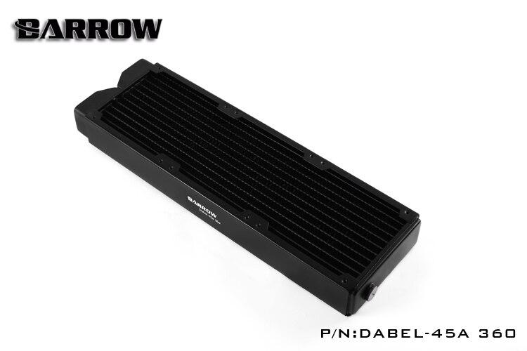 Brouette Dabel-45A 360, 45mm d'épaisseur 360mm radiateur, cuivre épais Plus Type refroidisseur d'eau, adapté pour les ventilateurs 120mm