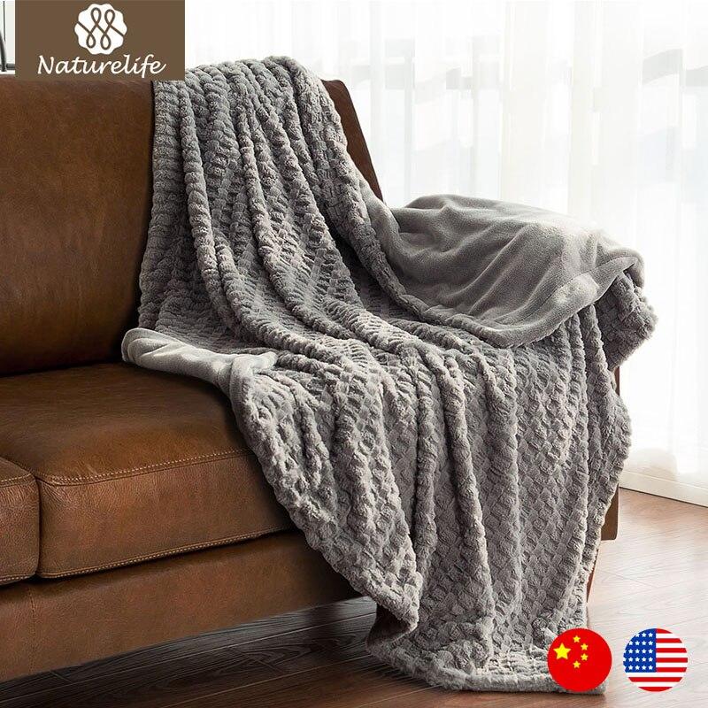 Naturelife Faux Fur Blanket Warm Soft Fleece Blankets