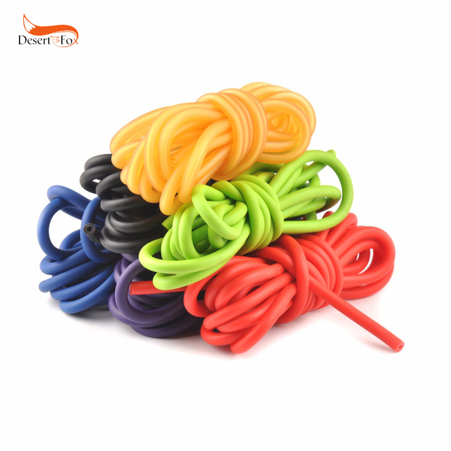 1 piece 5mm*5m Rubber Tube Stretch Elastic Slingshot Replacement Band 6 Colors Catapults Sling Rubber