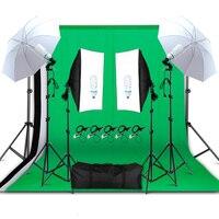 Профессиональный комплект оборудования для освещения на фотосъемке Зонт с мягким светом софтбокс держатель лампочки гнездо экраны для фот