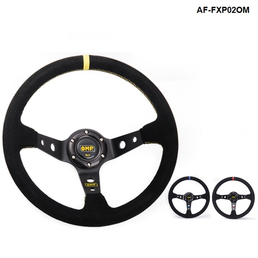 White Acouto 320mm the Latest Carbon Fiber Racing Steering Wheel Modification Mini Drifting Steering Wheel