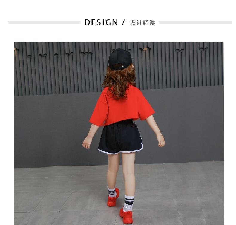 ... Child hip hop Stage Clothing Set Children Jazz Dance Costumes Girls  Street Dance Sequins Show Clothes ... 3c41a953c62