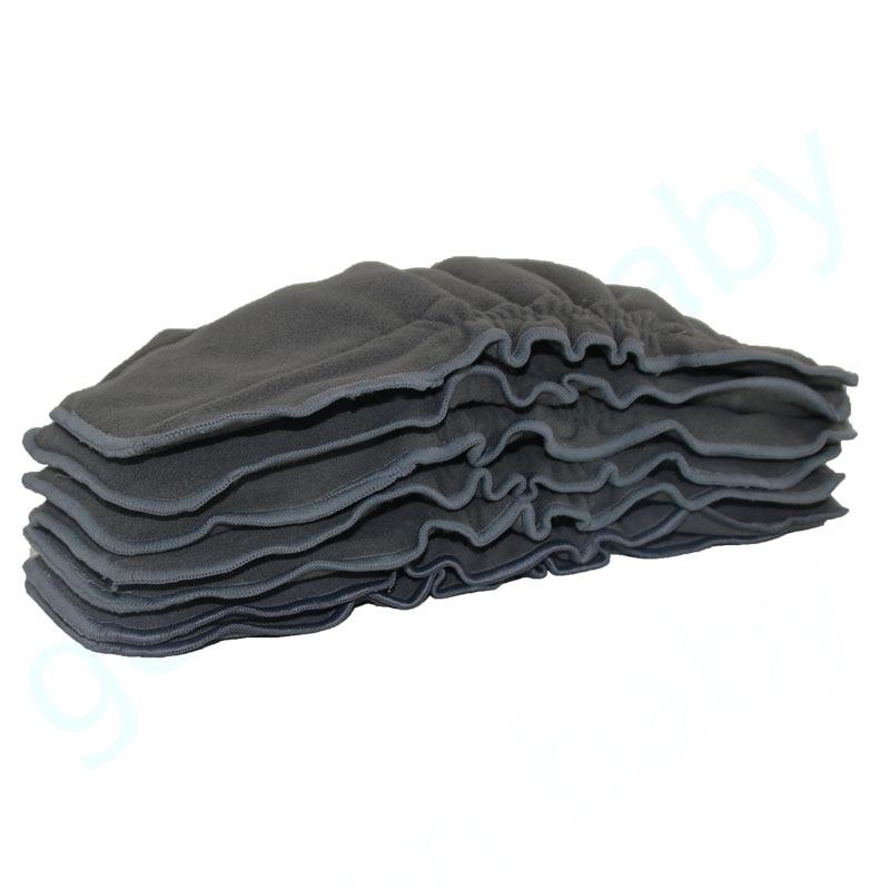 3 PCS Reutilizable Bambú Carbón Insert Pañal de tela Pañal del - Pañales y entrenamiento para ir al baño - foto 3