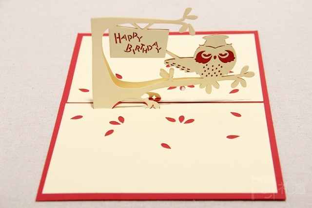 Birthday 3d Paper For Greeting Exo Card Cards With Envelope Design Free Shipping