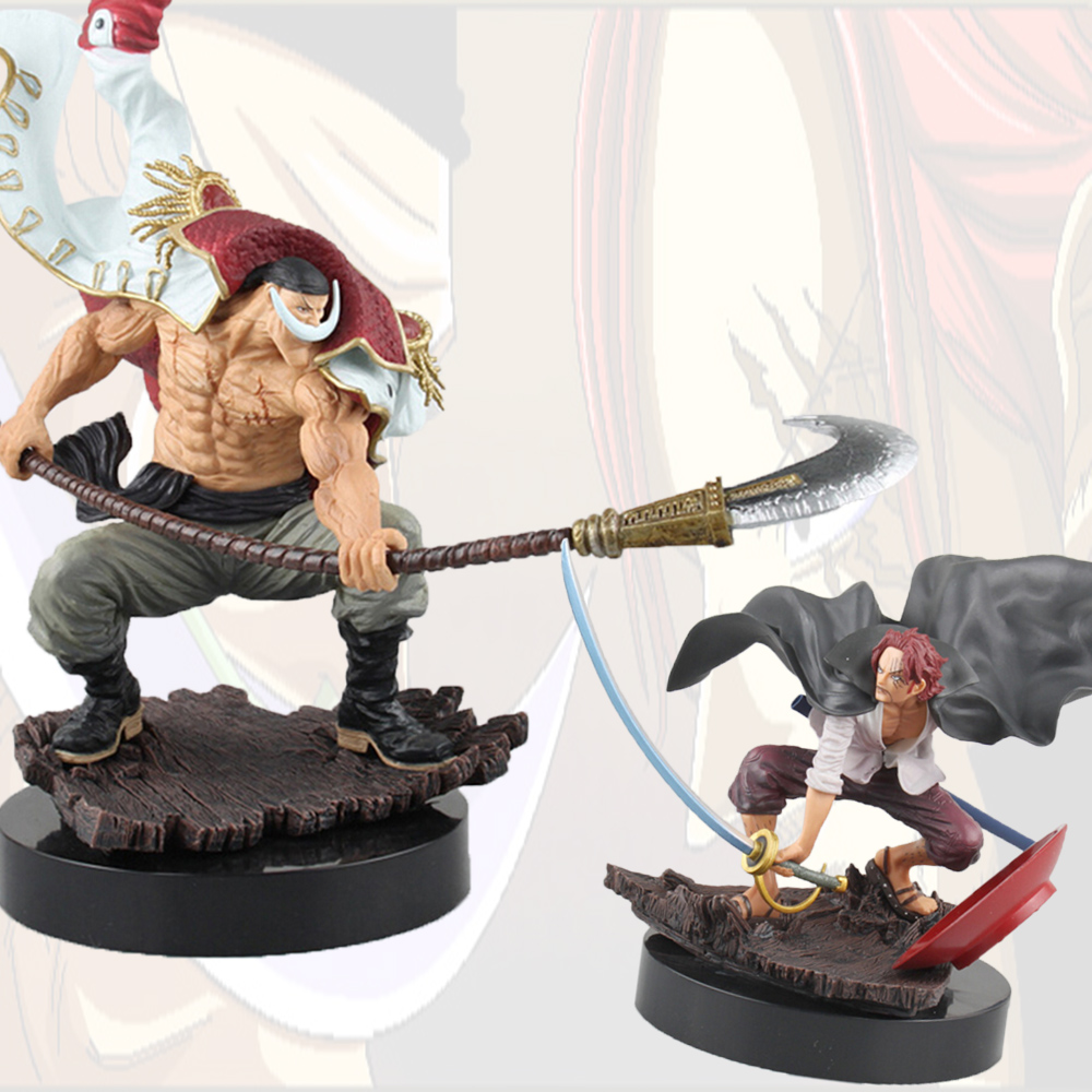 Anime One Piece White Beard Vs Shanks Action Figure 1/7 Scale Edward Newgate Doll PVC Figure Toys