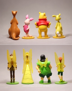 Image 2 - דיסני פו הדוב 7 12cm 8 יח\סט פעולה איור אנימה קישוט אוסף צלמית מיני צעצוע דגם עבור ילדי מתנה