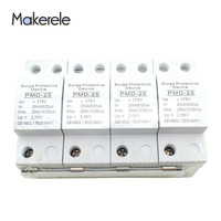Surge Protector Device For Lightning Protection 4P 25KA 275V Plastic House Protective Low voltage Lightning Arrester