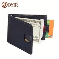 JOYIR RFID Wallet Antitheft Scanning Genuine Leather Wallet Leisure Men S Slim Leather Mini Wallet Case
