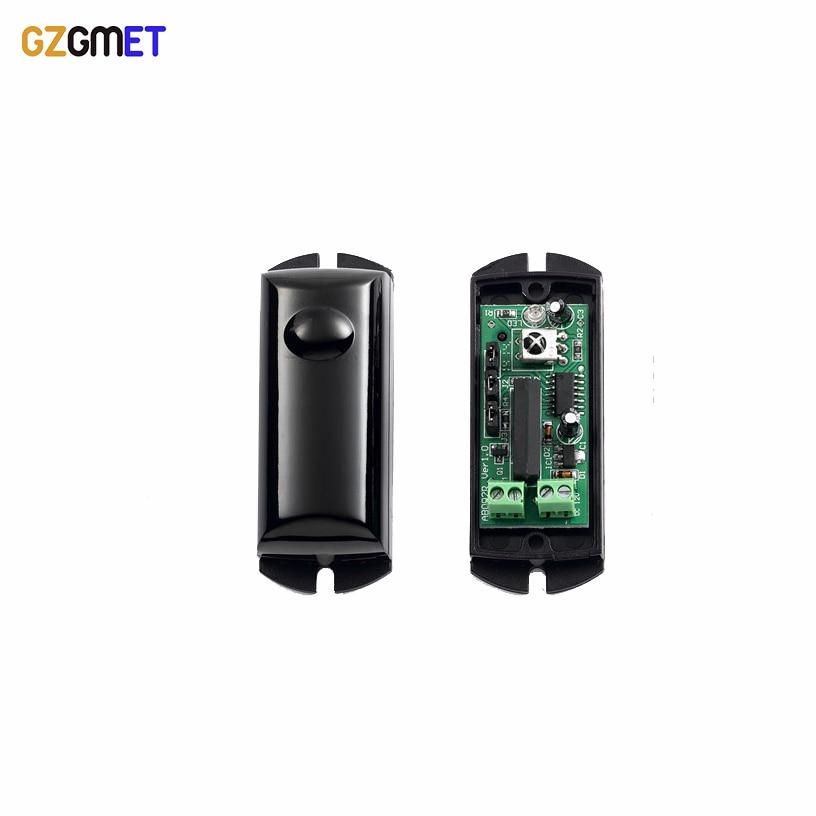 GZGMET Sensitivity Infrared Beam Sensor Alarm Photoelectric Single IR Beam Detector Security System