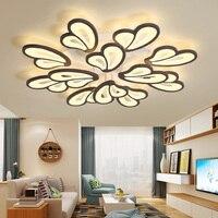 Lustre moderno Conduziu a Iluminação Lustre Para Sala de estar Quarto Sala de Jantar Superfície Branca montada kroonluchter