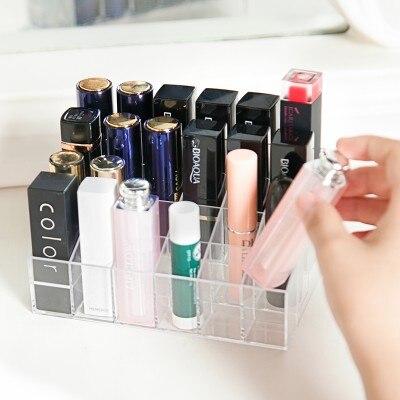 Divat Átlátszó kozmetikai doboz, asztali befejező doboz, - Szervezés és tárolás - Fénykép 2