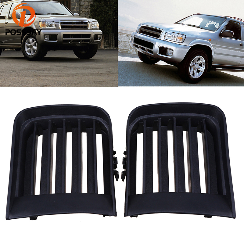 POSSBAY Voiture Front Grills Bumper Fog Light Grille Cover Car Accessory for Nissan Pathfinder R50 1999 2000 2001 2002 2003 2004 grille