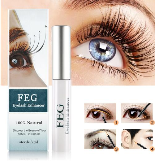 FEG Eyelash Enhancer Useful Makeup Rapid Growth Eyelash Extension 100% Natural Eyelash Enhancer Serum Eyelash Liquid