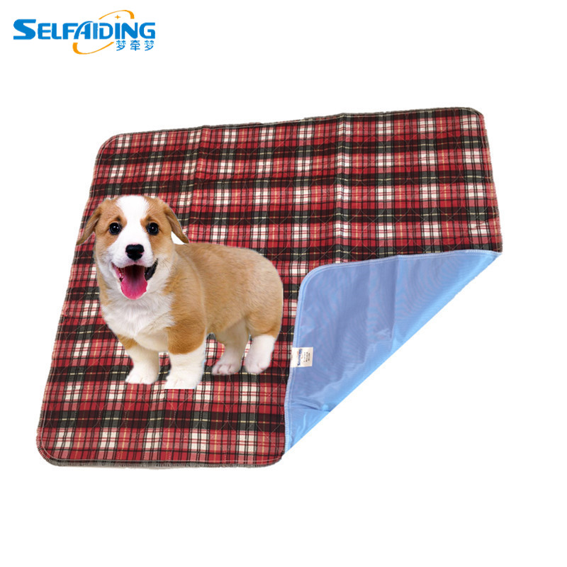Lattice Pattern Washable Pet Training Pad / Dog Urine Absorbing Mats / Puppy Pee Pads  PBP-109 Собака