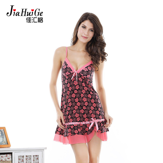 JiaHuiGe New Summer Nightgowns Sleepshirts Ladies Sleepwear Night Dress Sleepwear Cotton Nightdress for Women Nightwear Lingerie