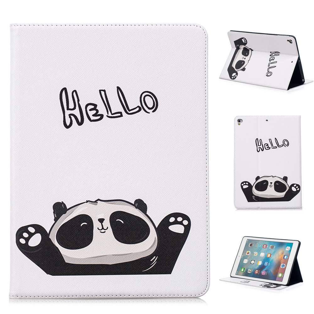 White Panda Pattern Support Protective Cover Case for iPad Air 1 2 iPad 2 3 4 Mini 1 2 3 4 Pro 9.7 10.5 2017 2018 9.7 inch