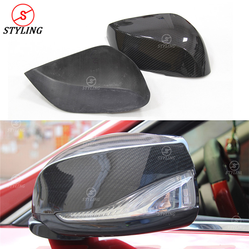 For Infiniti Q50 Carbon mirror cover add on style Q50 Q60 Q70 QX30 Carbon Fiber Rear Side View Mirror Cover 2014 2015 2016 -UP