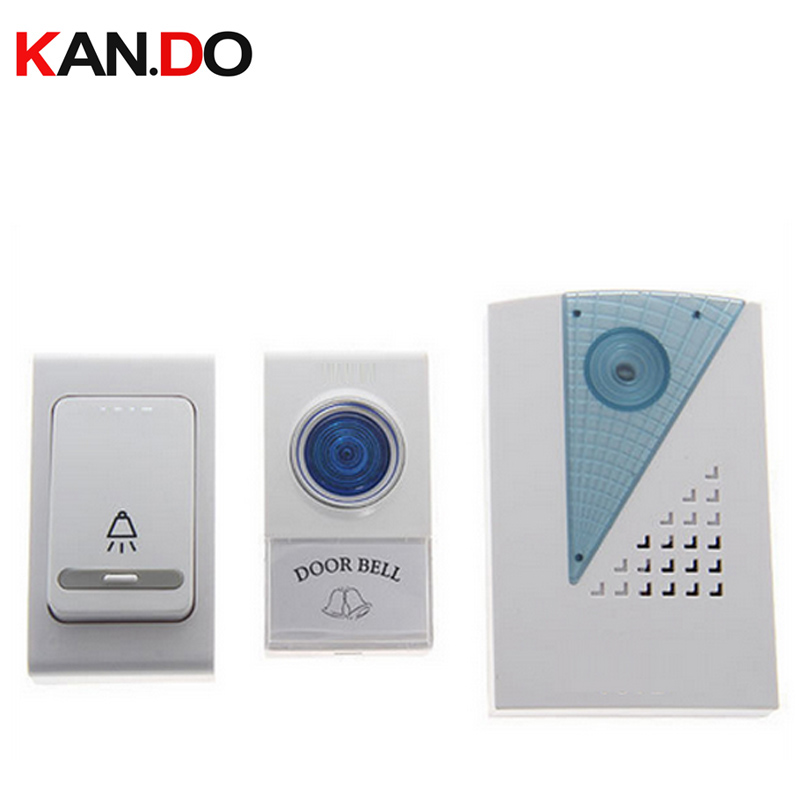 V001AB Doorbell  Battery 23A 12V  2 Emitter 1 Receiver Bell & Receiver Power By AA Battery Wireless Door Bell Doorbell Chime