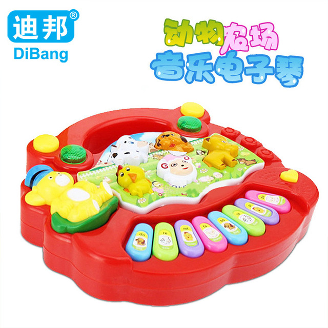2c26b8439e50 Dibang For Baby Kids Child Development Electrical Piano Toy Animal Farm  Keyboard Piano Model Light Musical Educational Toy