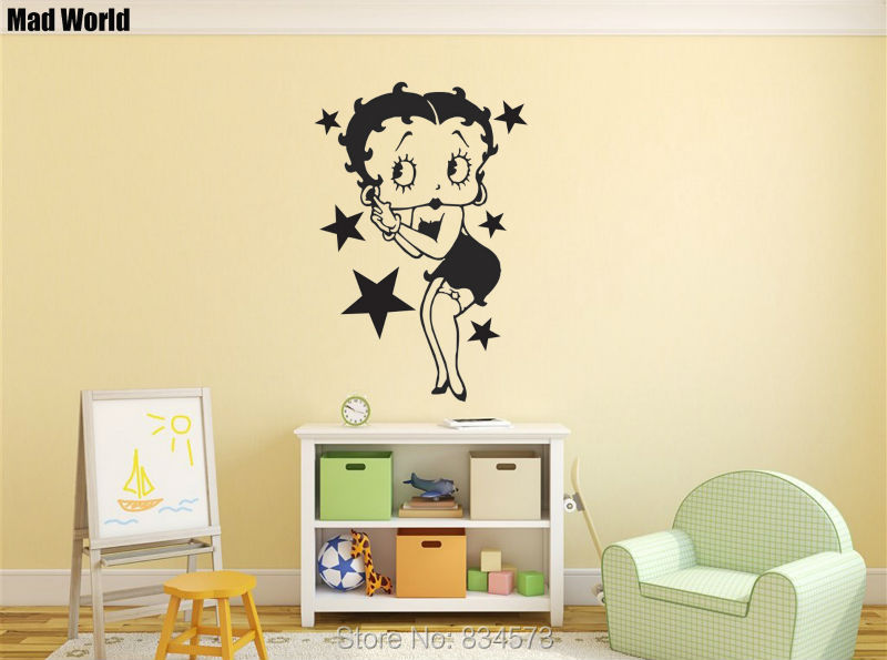Mad World Cartoon Silhouette Wall Art Stickers Decal Home DIY ...
