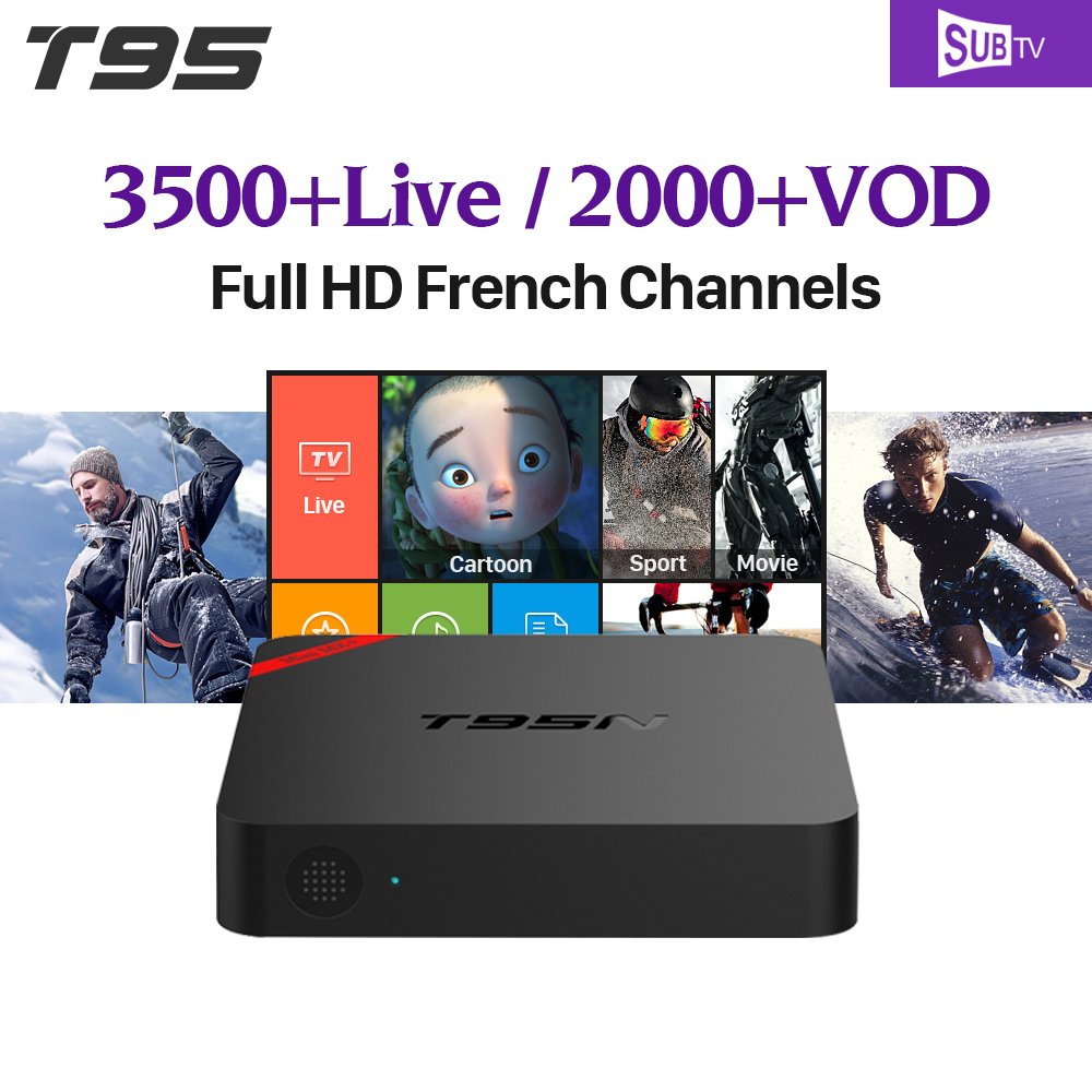 T95N Smart Android 6.0 TV Box S905X Quad Core 2.4Ghz WiFi SUBTV Code IPTV Arabic Channels Europe French Turkish IPTV Box dalletektv t95n android 6 0 tv box amlogic s905x quad core 1g 8g set top box 600 1year free iptv arabic europe uk french tv box