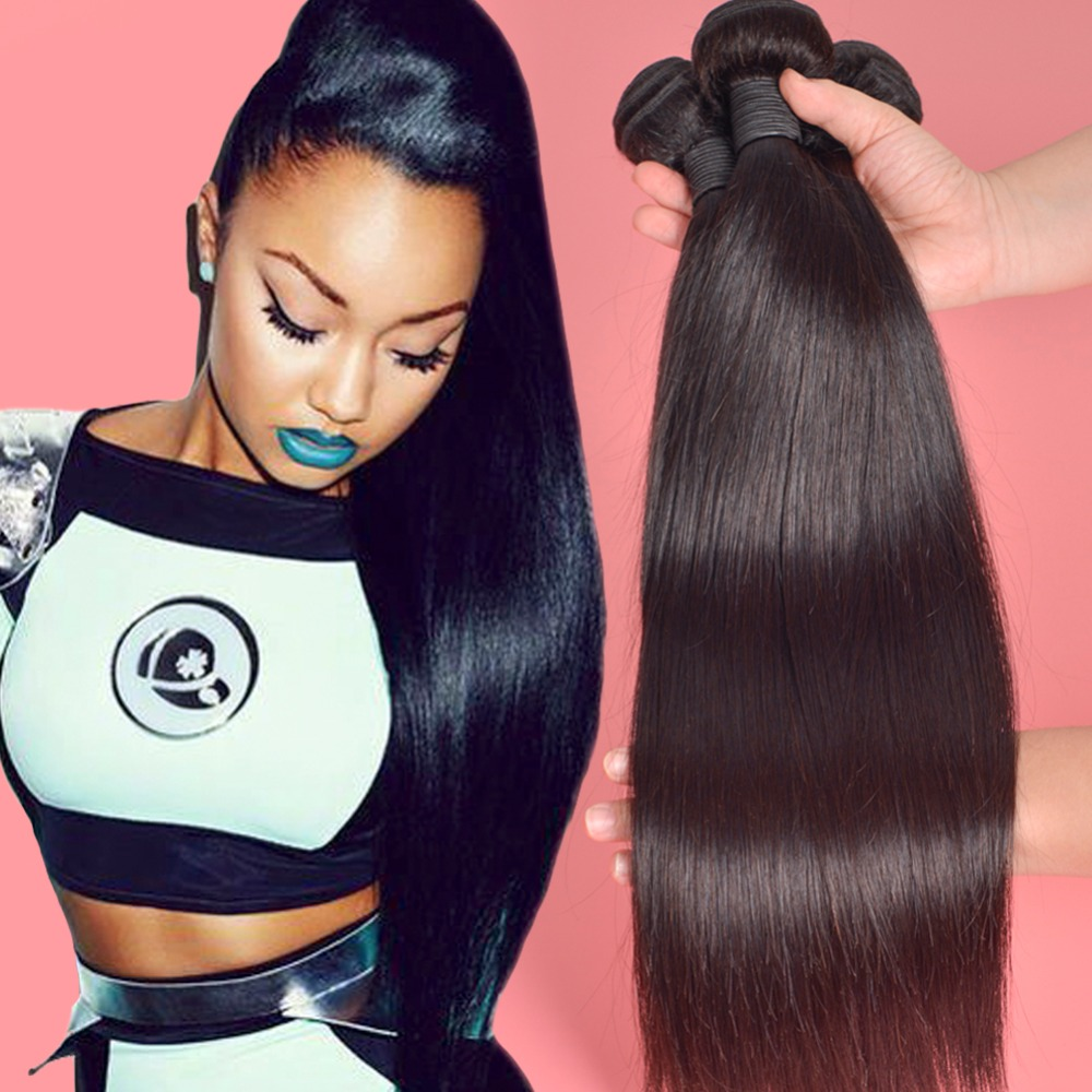 7A Peruvian Virgin Hair Straight Human Hair 3 Bundles ...