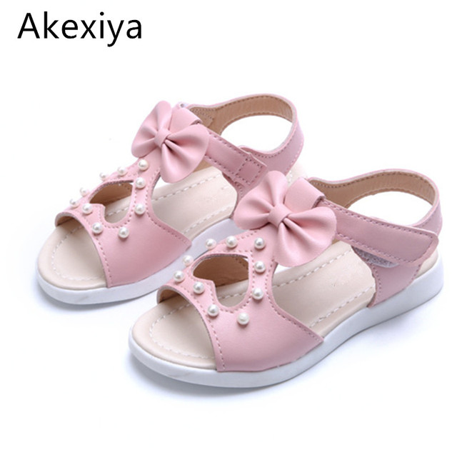 b7f54aad575768 Akexiya New arrival girls sandals fashion summer child shoes high quality cute  girls beading shoes design casual kids sandals