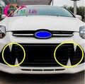 Углеродного Волокна Стикер для Решетка Для Ford Focus 3 MK3 2012 2013 2014 2015 Наклейка Для Решетка Аксессуары