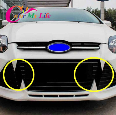 Carbon fiber sticker for grill for ford focus 3 mk3 2012 2013 2014 2015 decal for grille accessories in car stickers from automobiles motorcycles on