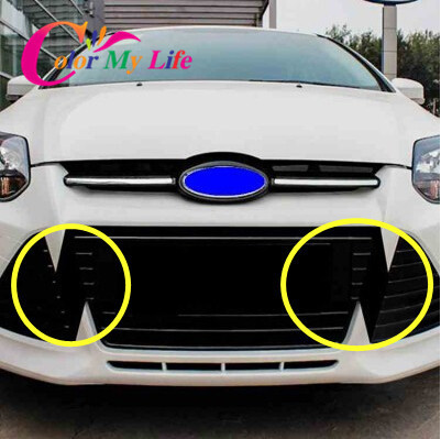 Carbon Fiber Sticker For Grill For Ford Focus 3 Mk3 2012