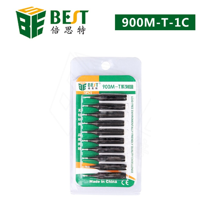 10x BST-900M-T-1C Soldering Solder Leader-Free Solder Iron Tip For Hakko 936 Educational Equipment