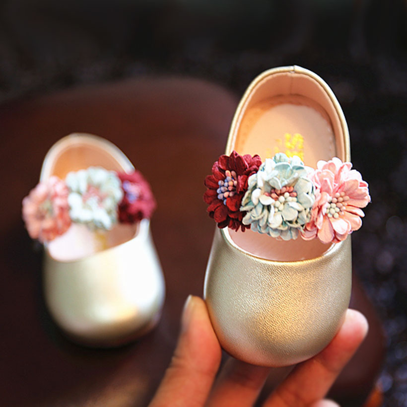 Lovely Fairy Baby Girl Princess Shoes Beautiful Small Flower Princess Baby Toddler Shoes Spring Autumn Slip On Baby Girl Shoes