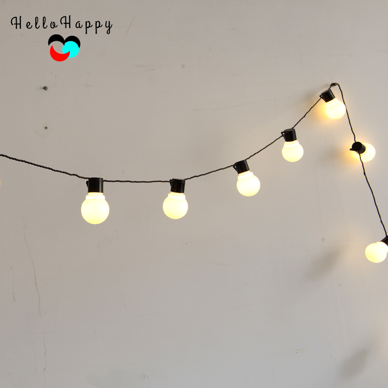 5.9M 20 LED String Light Outdoor Fairy Lights Garland G45 Bulbs Garden Patio Wedding Christmas Decoration Light Chain Waterproof