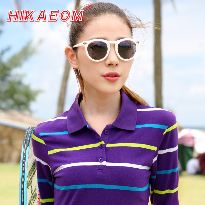 2018 Classic Women Polo Shirts Hot Cotton Large Sizes Striped Women Polo Shirt Female Leisure Compassionate Polos