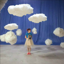 white cotton cloud decoration article for wedding birthday party Grand Event backdrops chrismas new year hanging supplies