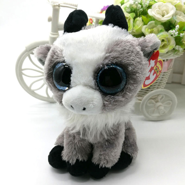 15cm Ty Original Beanie Boos Gabby Goat Plush Toy Soft Stuffed Animal Doll  Big Eye Kids Toy Cute Birthday Gift 8b9bd5ff935