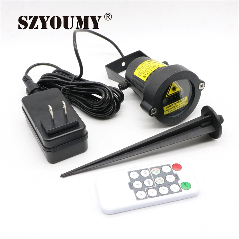 SZYOUMY Remote Christmas Outdoor Laser Light Star Show Projector Waterproof Lights For Holiday Xmas Tree Decorations Garden Lamp|Stage Lighting Effect|   - title=