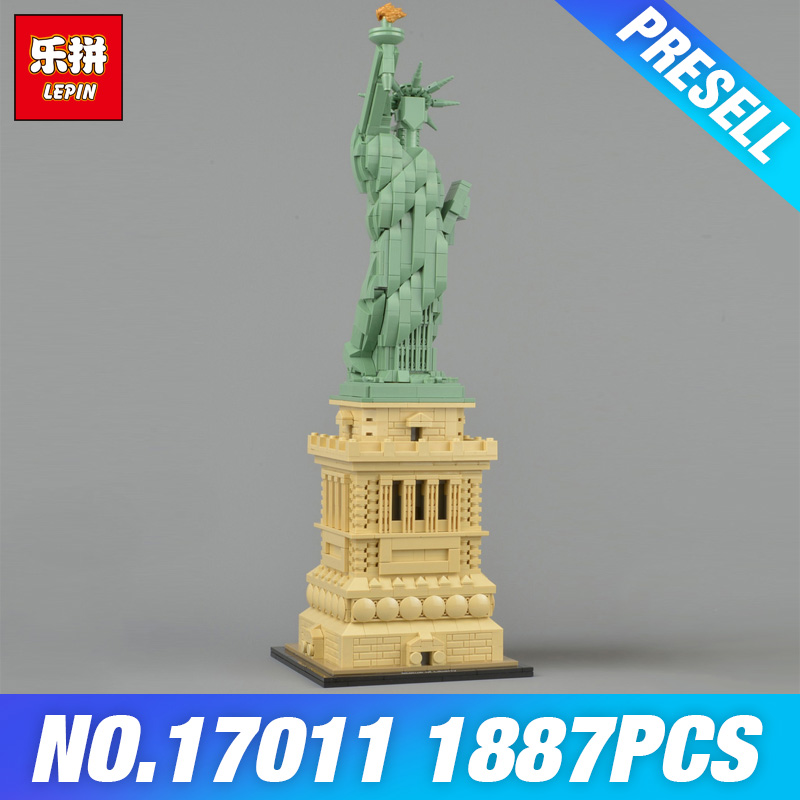 Lepin 17011 New Toys Architecture Series The 21042 State of Liberty Set Toys Model Building Blocks Bricks Kits DIY Kids Gifts new famous architecture series the arab hotel of dubai 3d model building blocks classic toys 8018