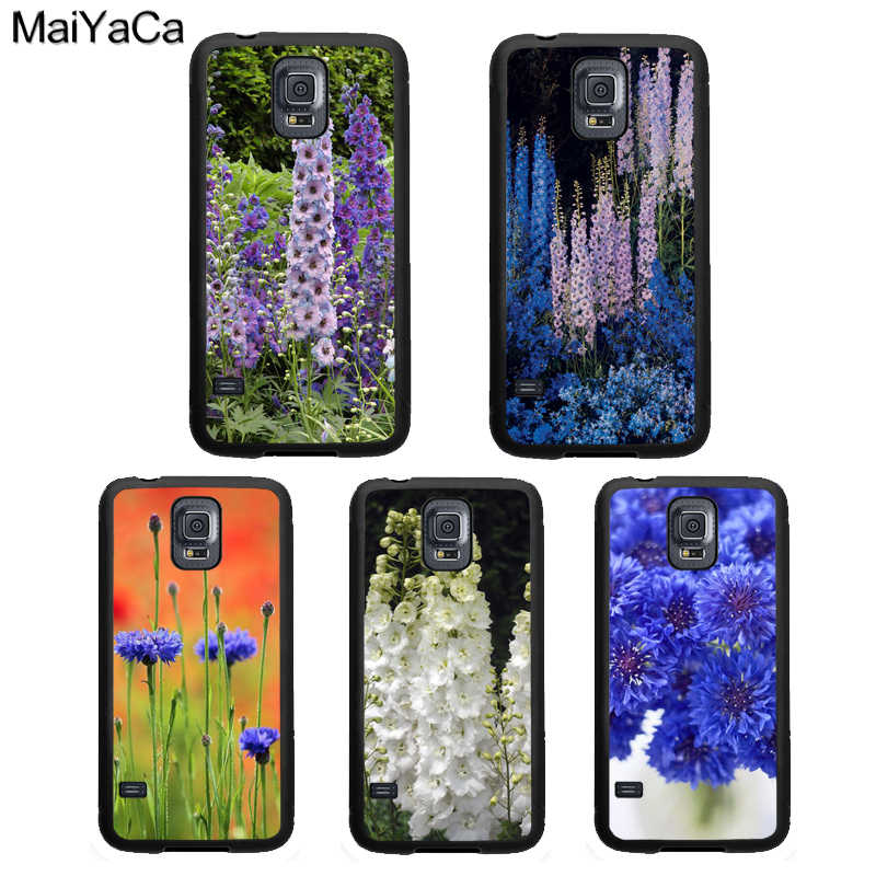 MaiYaCa Blue Cornflowers Delphinium Phone Case For Samsung Galaxy S8 S9 S5 S6 S7 edge S10 Plus Lite Note 5 4 8 9 TPU Back Cover