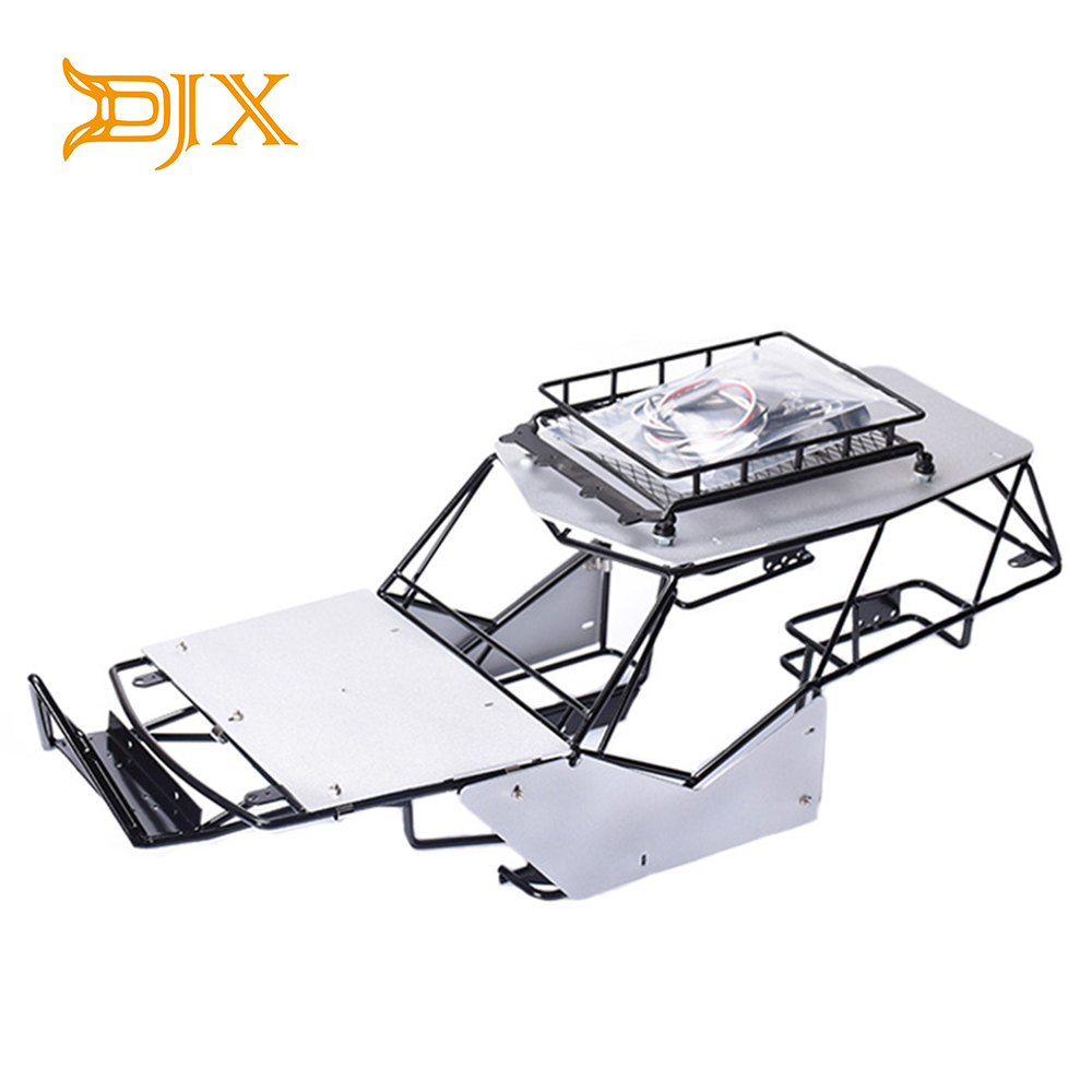 1 10 RC Axial Wraith All Metal Frame Body Roll Cage With Roof Rack And Alloy